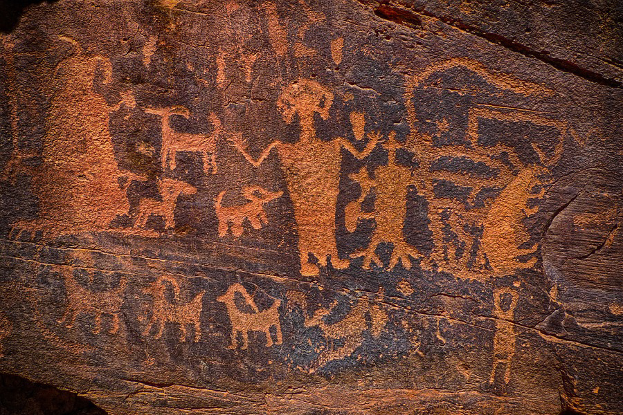 Photo of pictographs on rock