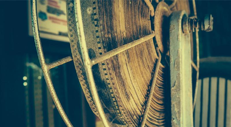Photo of reel of vintage film