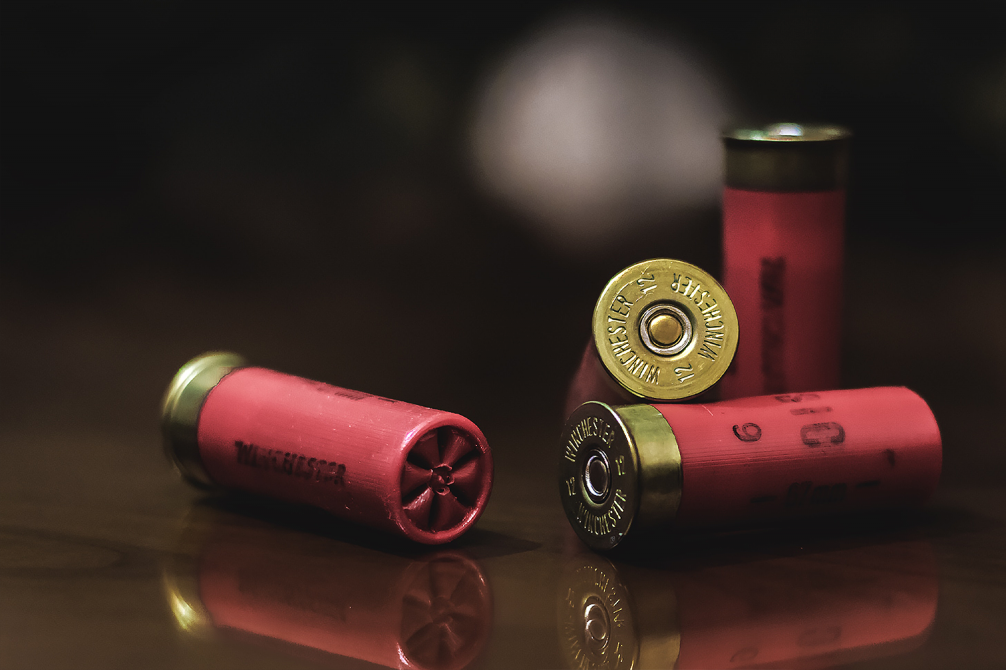 Photo of bullet casings on table